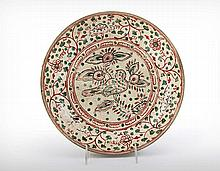 A Very Rare Anamese Le Dynasty (1428-1788) Plate, Late 15th/Early 16th Century