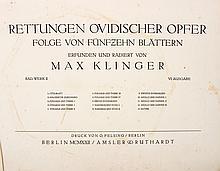 Max Klinger - Retungen Ovidischer Opfer ? Opus II - Portfolio of 15 Etchings