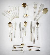 A Rare Jugendtill Silver Flatware Service by H. Meyen&Co., Berlin, Germany, C. 1900