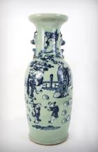 A Large Chinese Celadon Vase, 19th Century