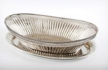 A Sterling Silver Bread Basket and Tray, A. F. Rasmusen, Denmark, First Half of the 20th Century