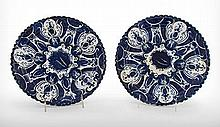 A Pair of Blue and White Delft Plates, Late 17th Century, Nederland