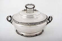 A Silver Soup Tureen, France, 1860's
