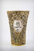 A Silver Gilt Elijah Cup, Germany, Late 19th Century