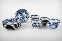 A Chinese Qianlong Dynasty (1711-1799) Blue and White 13 Pieces Porcelain Tea Set