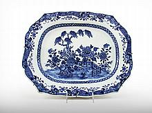 A Large Chinese Export Porcelain Hanging Plate, 18th Century