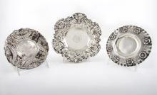 Three Silver Plates, 19th Century