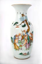 A Chinese Polychrome Porcelain Vase, 19th Century