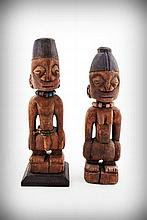 A Pair of Yoruba Ancestor Protection Figures,
