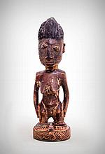 Yoruba Female Ancestor Fertility Figure, Oyo,
