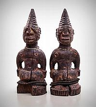 A Pair of Adorned Yoruba