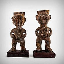 A Pair of Igbo Ancestor Profusion Figures, Owerri,