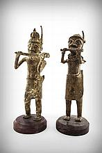 A Pair of Bronze Flautists, Togo