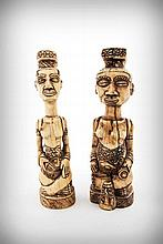 A Pair of Dyed Ivory Female Fertility Figures,