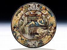 Kleiner Majolika-Teller von Carlo Antonio Grue, 1655 - 1723