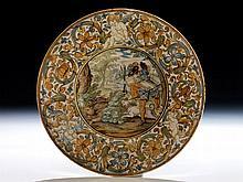 Tiefer Majolika-Teller von Carlo Antonio Grue, 1655 - 1723 und Werkstatt