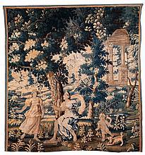 Flämischer Gobelin mit mythologischer Darstellung