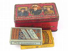 Two tinplate tins, one Thorne's toffee, one Wills