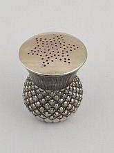 A late Victorian Scottish silver pepper in the