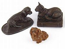A cold painted bronze model of a Pekinese dog, ht.