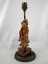 A Chinese electric table lamp in the form of a