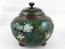 A Chinese cloisonne enamel covered bowl, ht.12cm.
