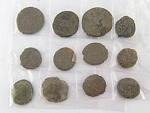 A quantity of ancient coins.