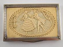 An Austrian silver, 935 standard, rectangular box,