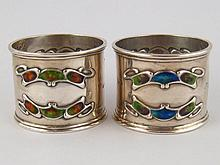 A pair of Liberty &Co.; Arts and Crafts silver