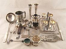 A quantity of silver plated flatware and
