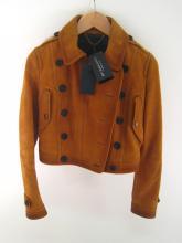 BURBERRY Prorsum, a lady's tan leather jacket, size 40