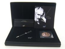 MONTBLANC, The Donation Series, Arturo Toscanini 1867-1957, a limited edition black resin roller ball, in original fitted box