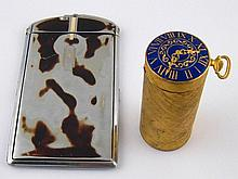 A Ronson combined cigarette case and lighter, and