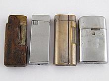 Four cigarette lighters, being two Dunhill, one in