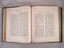 A large full leather bound Book of Common Prayer,