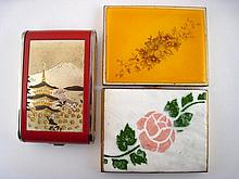 A musical combined cigarette case and compact and