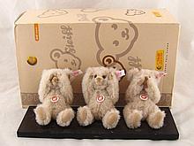 Steiff. A set of three Steiff bears; see no evil,