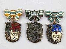 Soviet Russian Medals. Order of Maternal Glory, classes 1, 2 and 3.