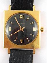 An 18 carat gold gent's Imperia wrist watch, mechanical movement, case appr