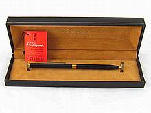 A boxed S.T. Dupont ballpoint pen in manufacturer's case.