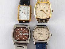 A mixed lot comprising four gent's wrist watches.