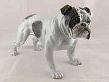 A Rosenthal ceramic model Bulldog, incised