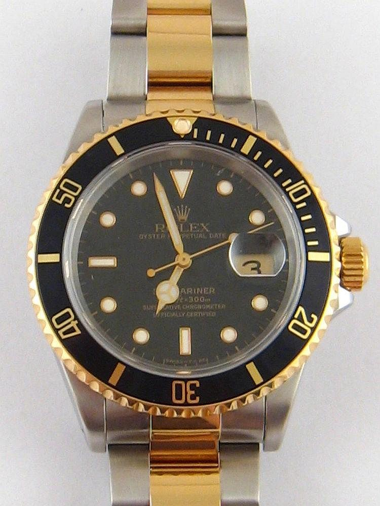 A Gent's steel and 18 carat gold Rolex Oyster