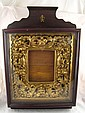 A Russian deeply formed gilt wood vine decorated