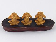 Three well carved figures of the three wise