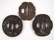 An early iron tsuba of lobed outline with