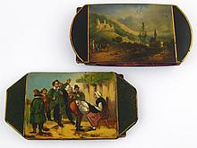 Two 19th century European lacquer expanding cases,