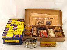 An assortment of vintage domestic products,