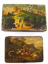 Two 19th century European painted boxes, the
