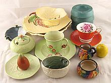 A quantity of about 19 English ceramics, including